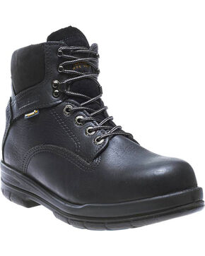 Wolverine Men's DuraShocks® SR Steel Toe EH Work Boots, Black, hi-res