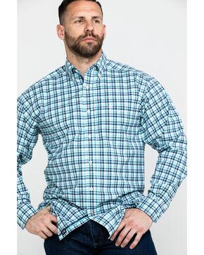 Ariat Men's Hammerman Stretch Long Sleeve Western Shirt, White, hi-res