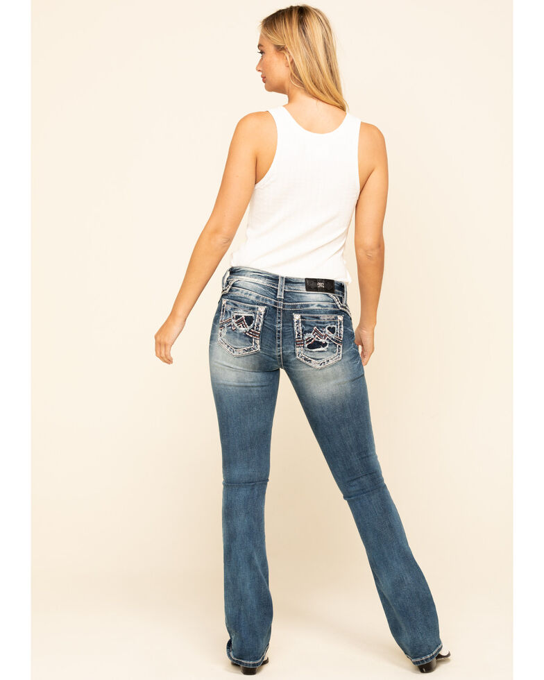 Miss Me Women's Medium Blowout Chloe Bootcut Jeans, Blue, hi-res