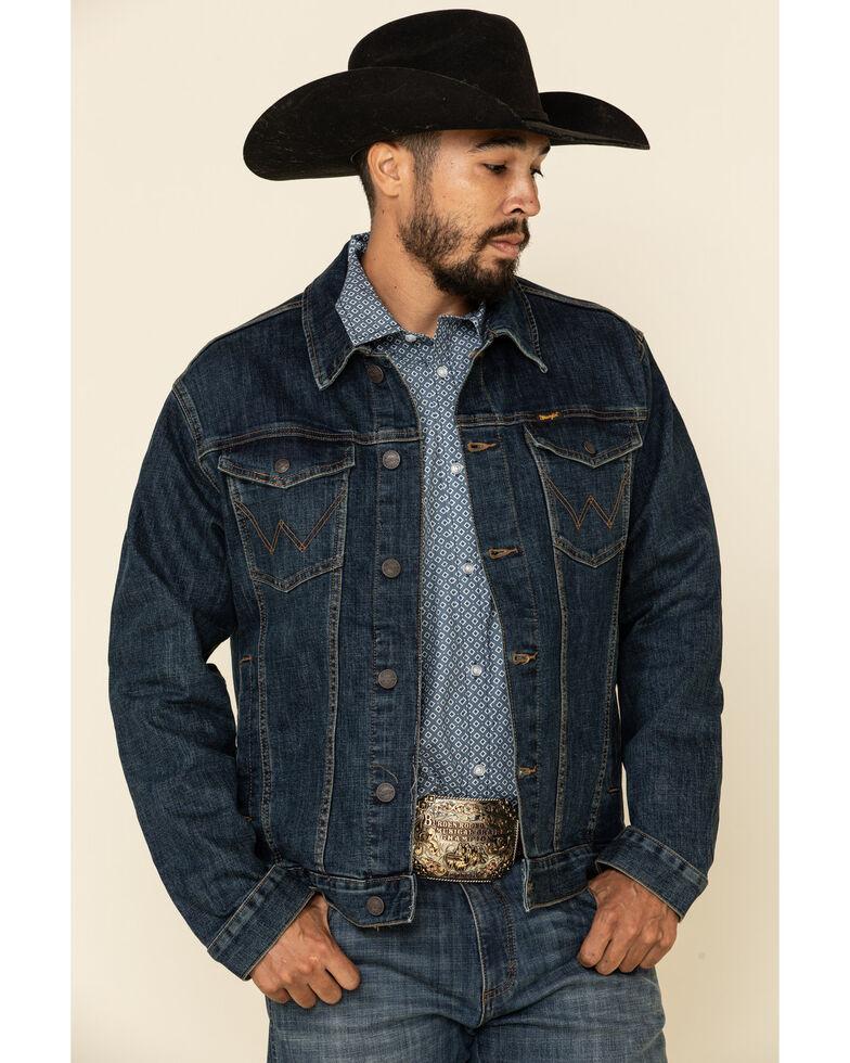 Wrangler Retro Men's Bozeman Unlined Denim Jacket , Navy, hi-res
