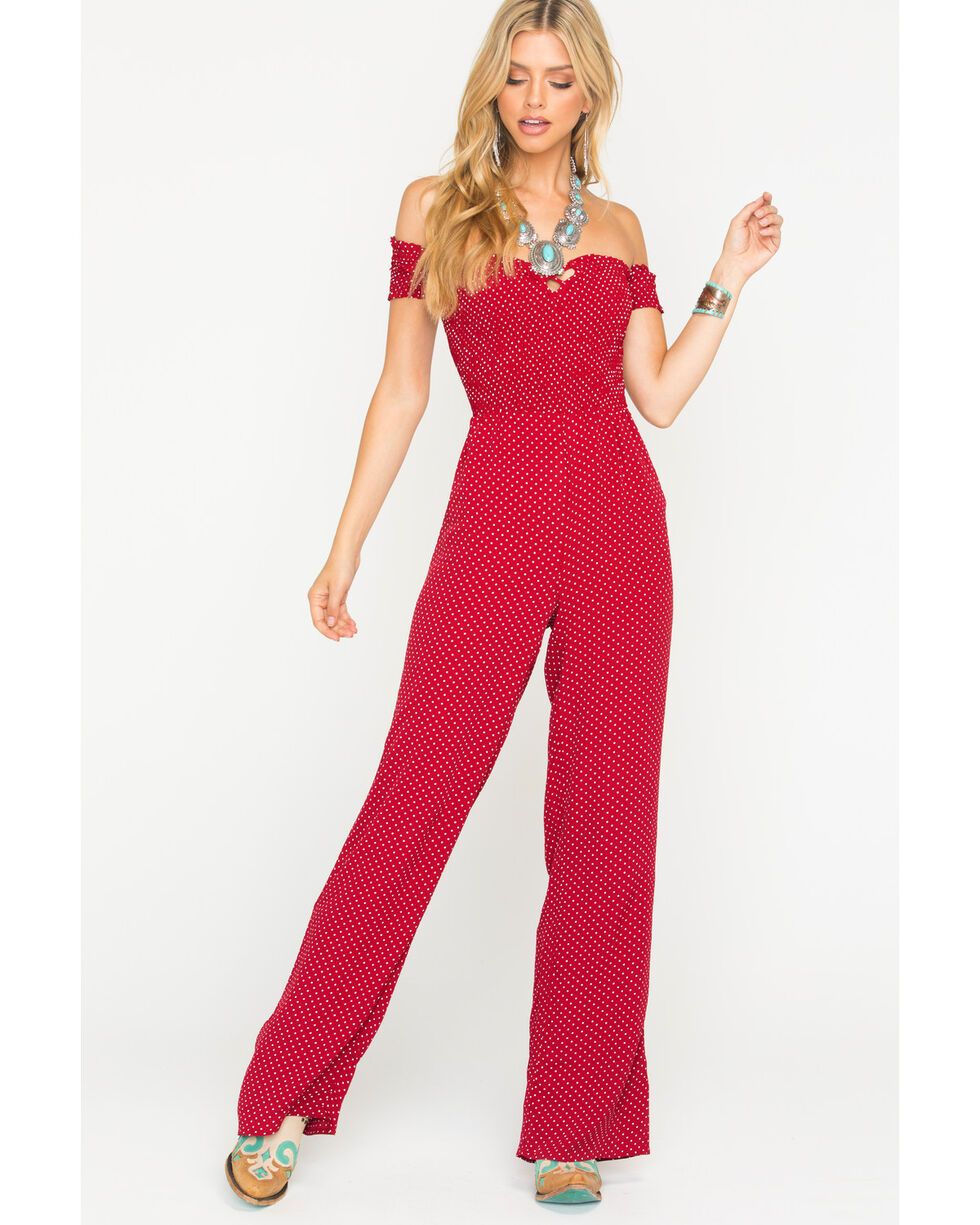 Sage the Label Women's Red Set Sail Jumpsuit, Red, hi-res
