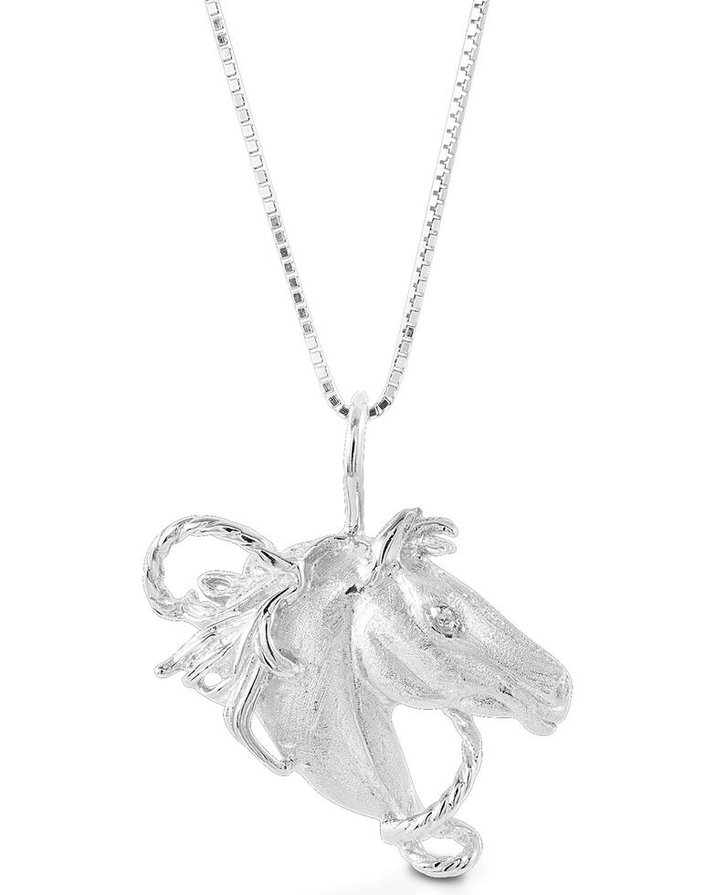 Kelly Herd Women's Horsehead Necklace, Silver, hi-res