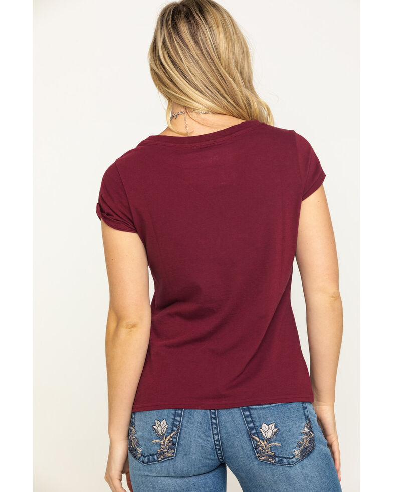 Shyanne Life Women's Wine Kick Up Your Boots Graphic Tee, Wine, hi-res