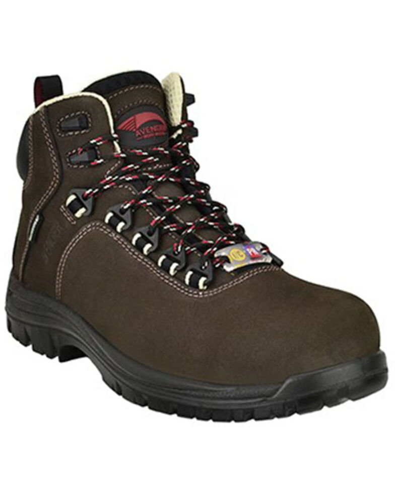 Avenger Men's Breaker Waterproof Work Boots - Composite Toe, Brown, hi-res