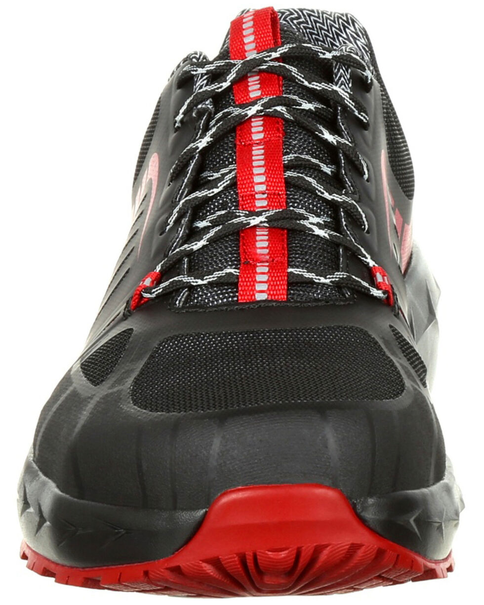 Rocky Men's LX Athletic Work Shoes - Alloy Toe, Blue/red, hi-res