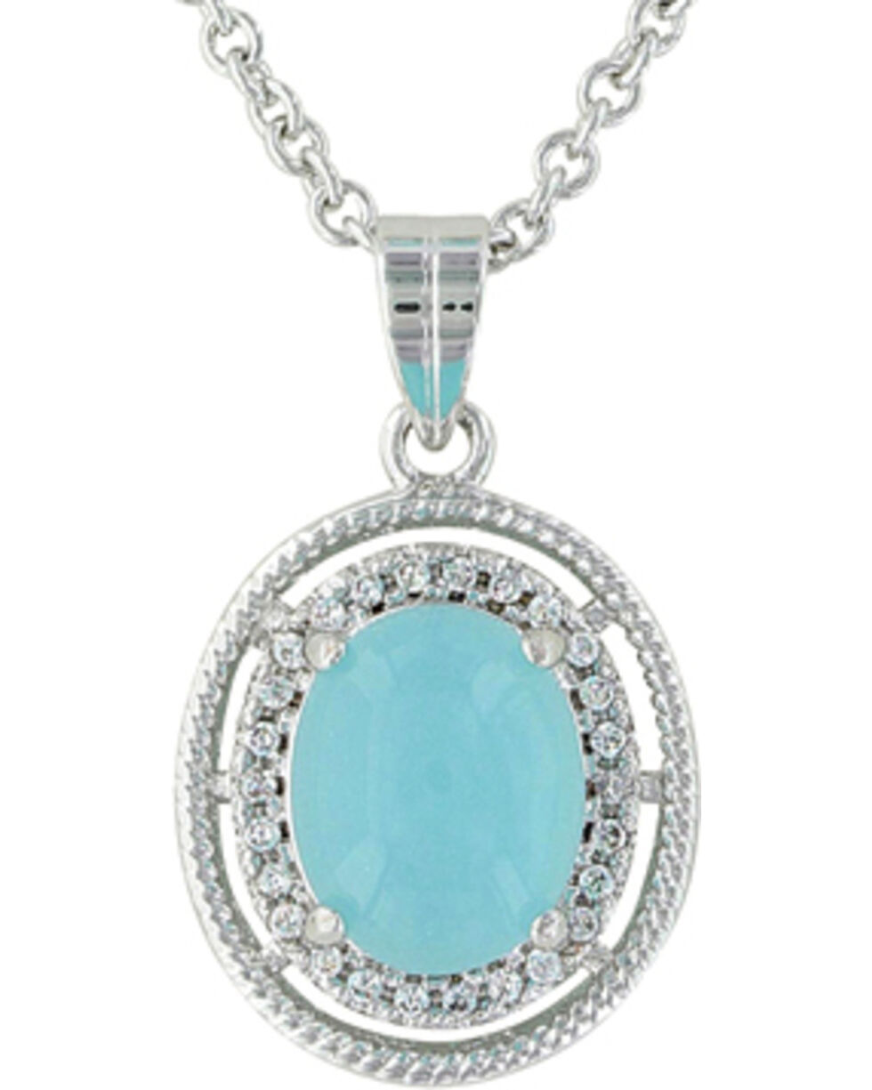 Montana Silversmiths Women's Haloed Summer Skies Jewelry Set, Silver, hi-res