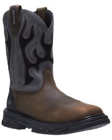 Wolverine Men's Grey Ranch King Carbonmax Western Work Boots - Composite Toe, Grey, hi-res