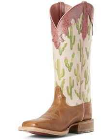 9e34378b1af Ariat Women s Fonda Cactus Print Western Boots - Wide Square Toe