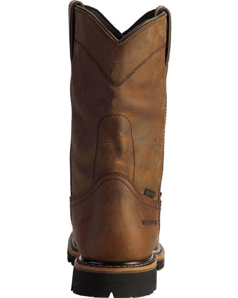 26b43708685 Justin Men's Wyoming Waterproof Internal Met Guard Pull-On Work Boots