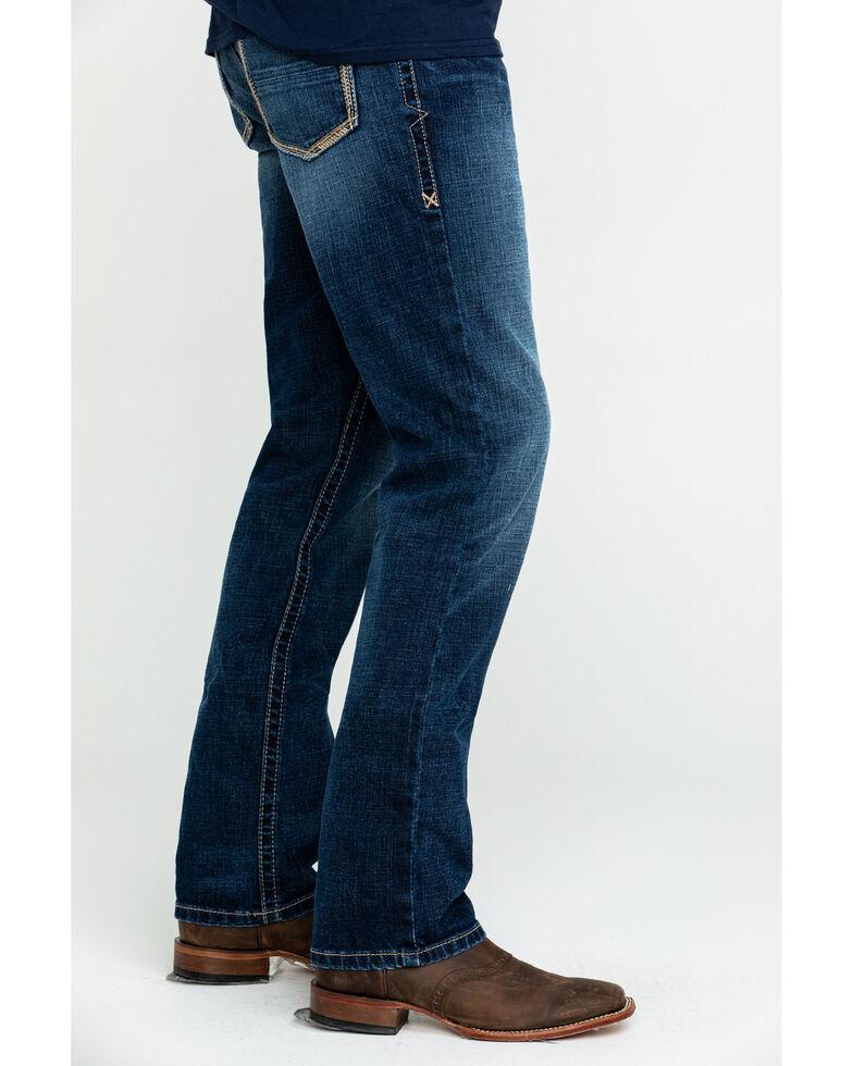 Ariat Men's M1 Travis Vintage Stackable Slim Straight Jeans , Blue, hi-res