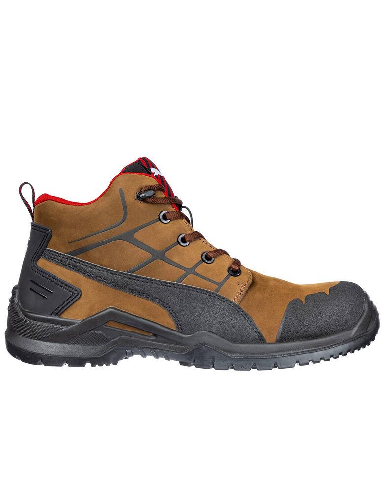 Puma Men's Brown Krypton Mid SD Boots - Composite Toe , Brown, hi-res