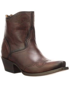Lucchese Women's Ilibert Fashion Booties - Snip Toe, Brown, hi-res