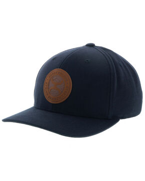 HOOey Men's Black Buck Logo Cap, Black, hi-res