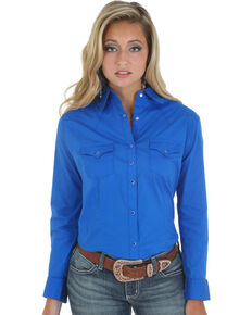 646aec04261 Wrangler Women s Long Sleeve Western Shirt.  39.99. Wrangler Womens ...