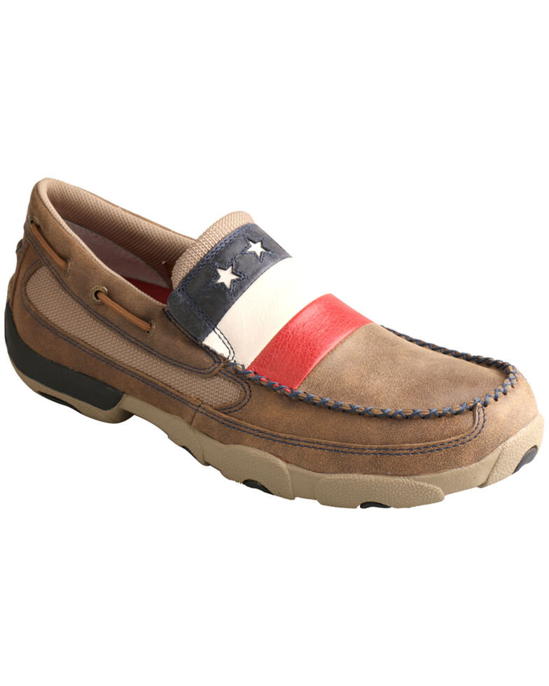 Twisted X Men's VFW Red White & Blue Moc Toe Slip On Shoes, , hi-res