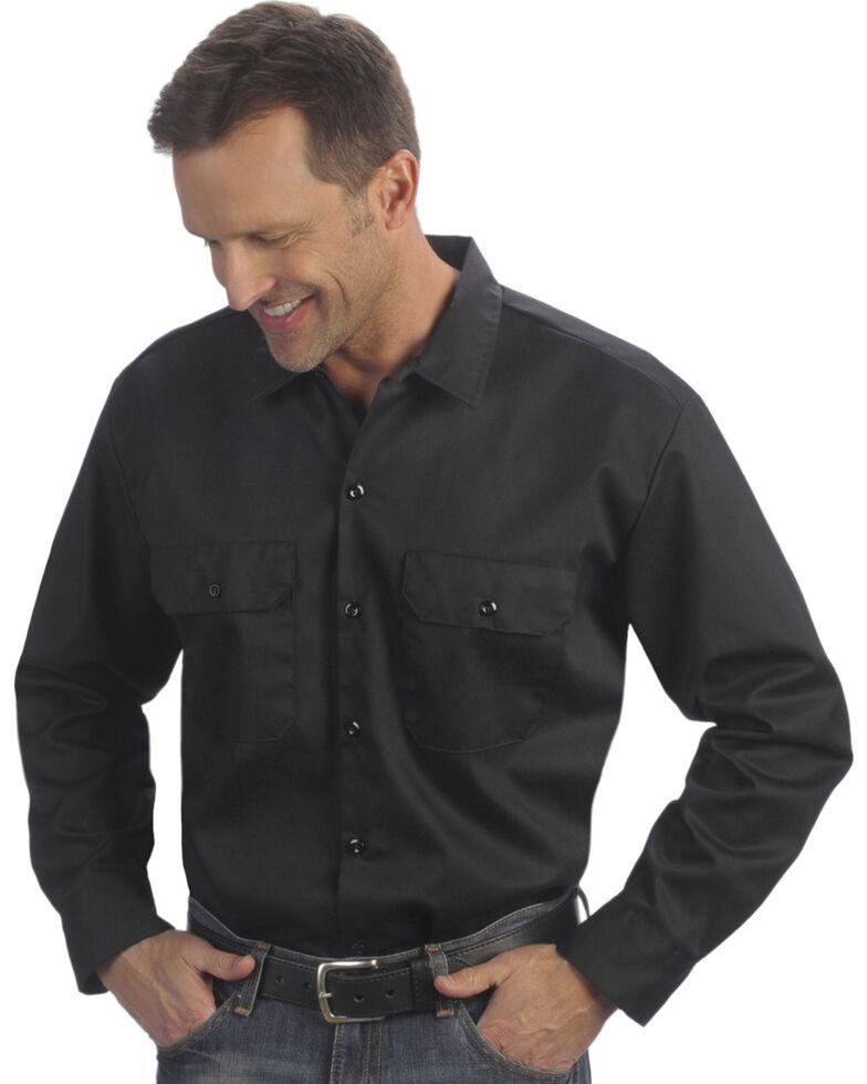 Dickies Men's Black 2 Pocket Work Shirt - Big, Black, hi-res