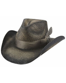 Bullhide Women's Black Smile At Me Panama Straw Western Hat , Black, hi-res