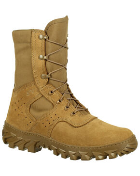 Rocky Men's Puncture-Resistant Military Jungle Boots - Round Toe, Taupe, hi-res