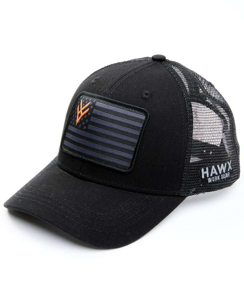 Hawx Men's Black Flag Patch Mesh-Back Ball Cap , Black, hi-res