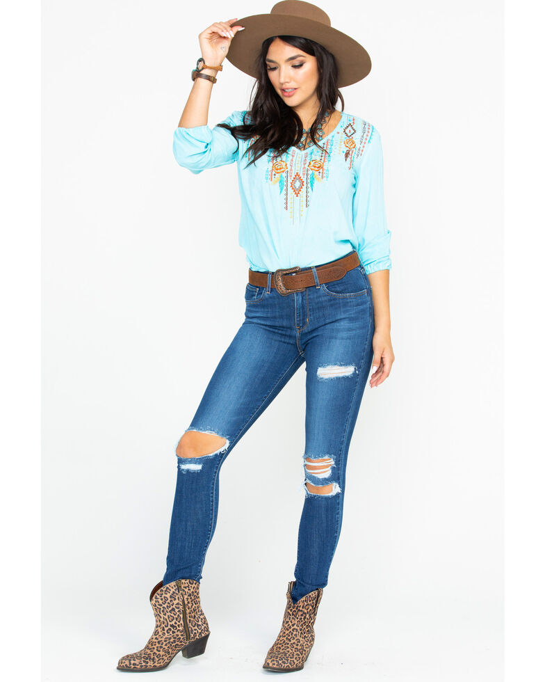 Levi's Women's 721 High-Waisted Skinny Jeans, Blue, hi-res