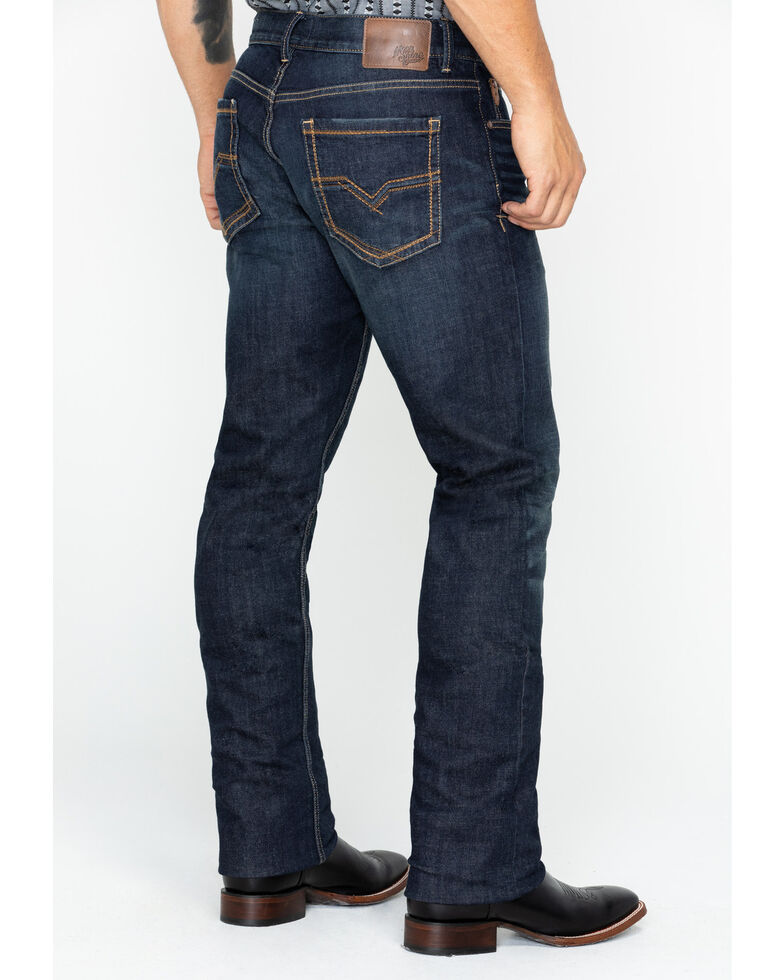 Moonshine Spirit Men's Distill Dark Wash Slim Straight Jeans, Indigo, hi-res