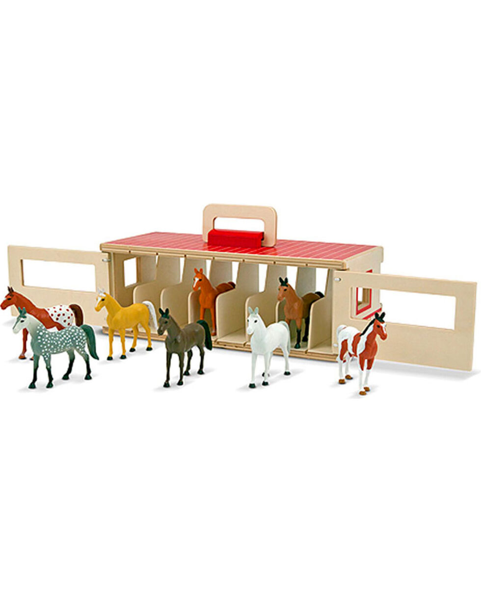 Melissa & Doug Kids' Take-Along Show-Horse Stable Play Set, No Color, hi-res