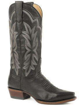 Stetson Women's Black Casey Western Boots - Snip Toe , Black, hi-res