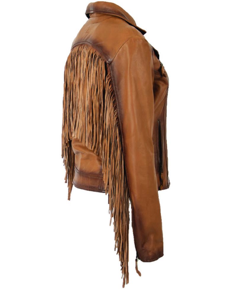 STS Ranchwear Women's Carmel Chenae Fringe Leather Jacket, , hi-res