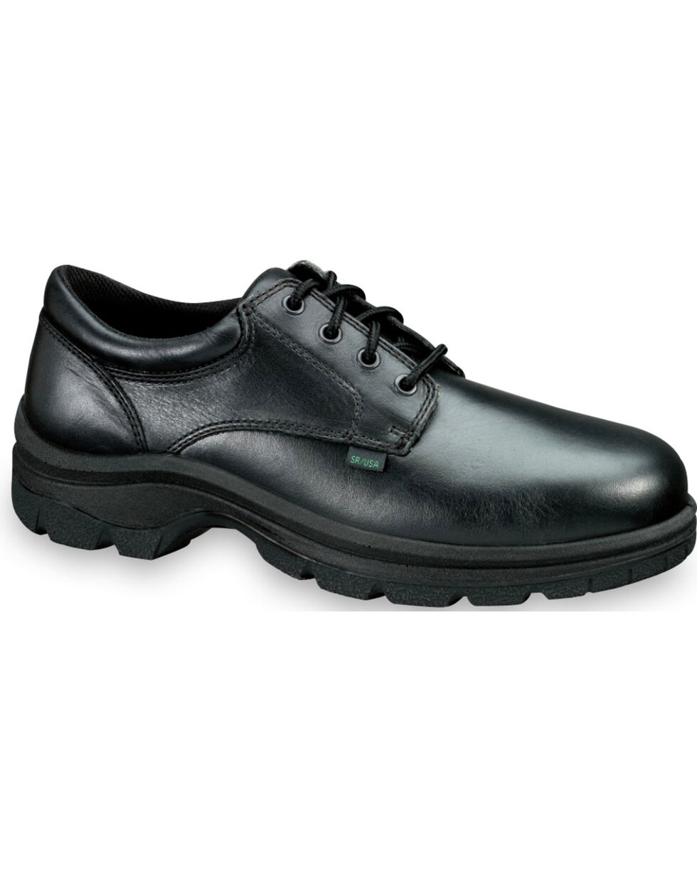 Thorogood Men's SoftStreets Postal Certified Oxfords , Black, hi-res