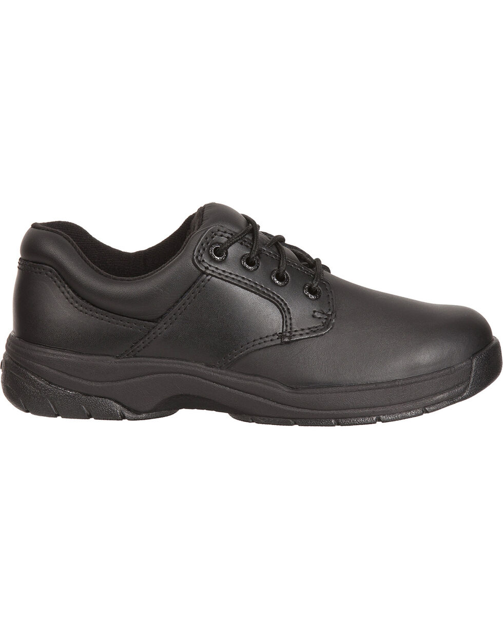 Rocky Women's Slip Stop Oxford Duty Shoes, Black, hi-res
