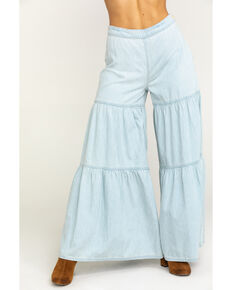 Free People Women's Navy Stargazing Tiered Pants, Blue, hi-res
