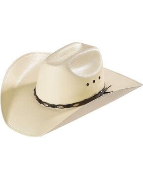 Bullhide Men's Alamo 50X Straw Hat, Natural, hi-res