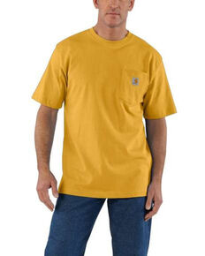 Carhartt Men's Heather Gold Pocket Short Sleeve Work T-Shirt , Gold, hi-res