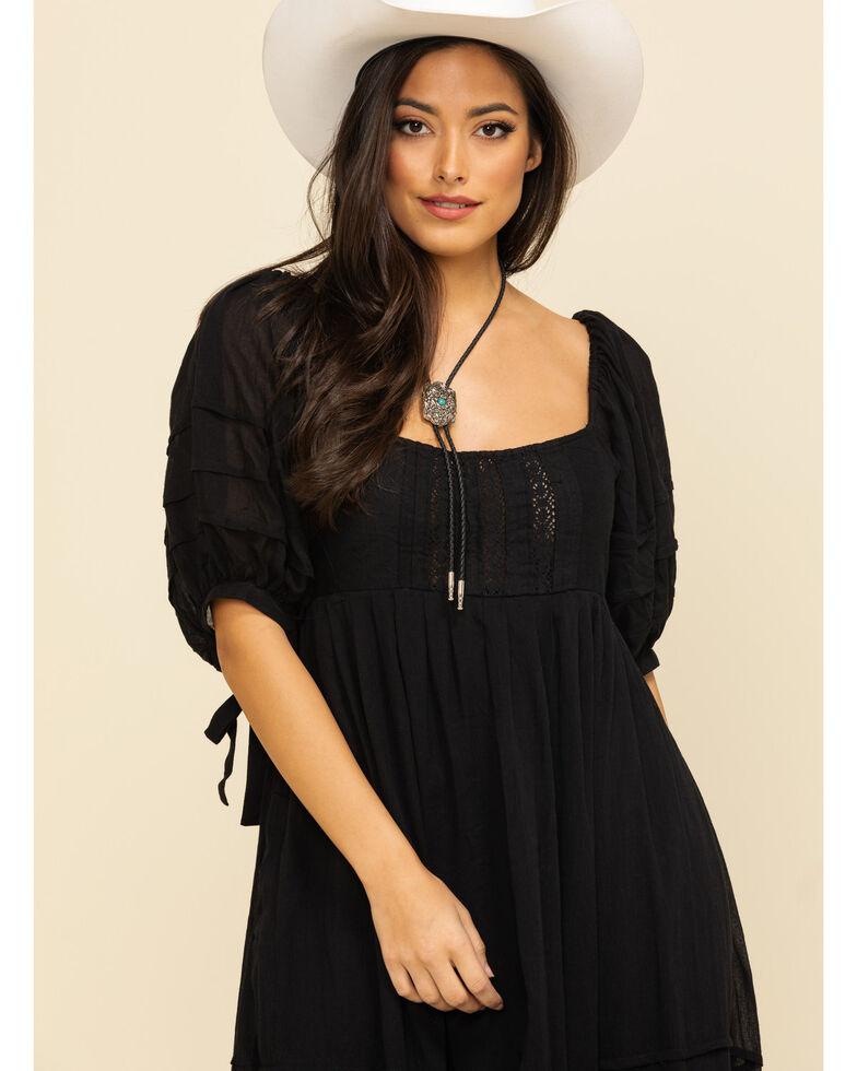 Free People Women's Lets Be Friends Midi Dress, Black, hi-res