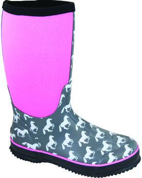 Smoky Mountain Women's Horse Amphibian Waterproof Boots, Grey, hi-res