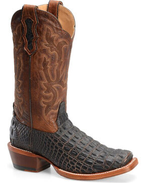 Double H Men's Cattle Baron Croc Print Western Boots, Brown, hi-res