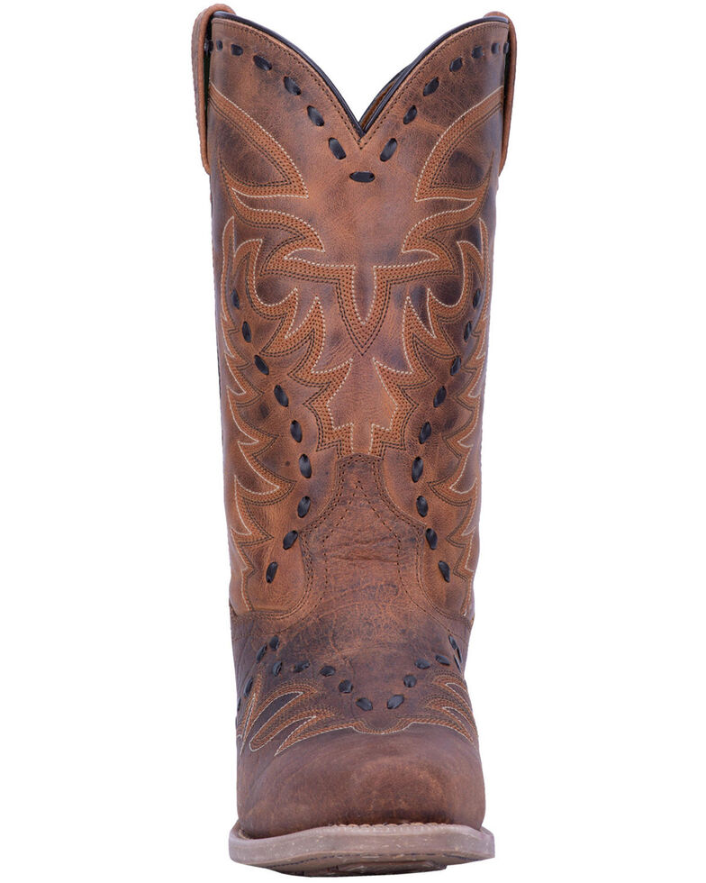 Laredo Men's Clancy Western Boots - Square Toe, Brown, hi-res