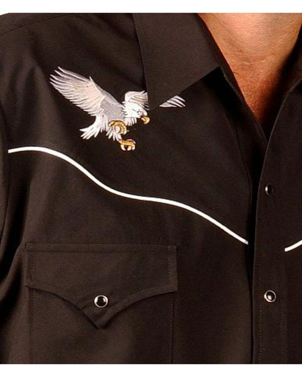 Ely Eagle Embroidered Western Cowboy Shirt, Black, hi-res