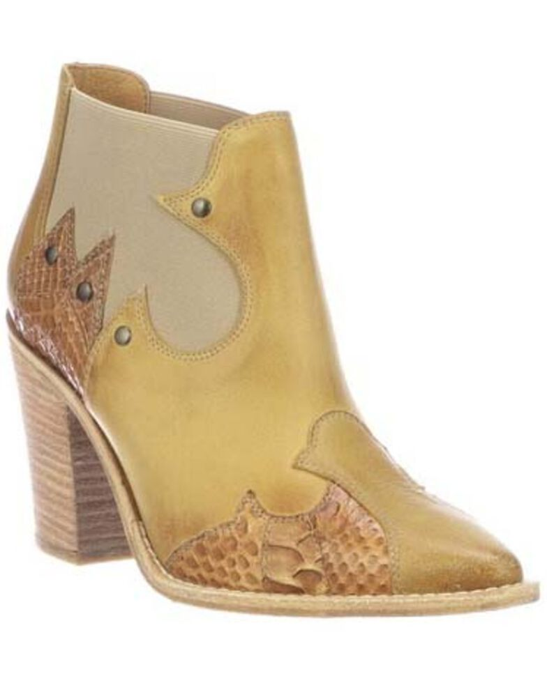 Lucchese Women's Stacy Fashion Booties - Medium Toe, Tan, hi-res