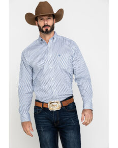 Ariat Men's Lamar Stretch Geo Print Long Sleeve Western Shirt - Big , Multi, hi-res