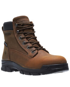 Wolverine Men's Chainhand Waterproof Work Boots - Steel Toe, Brown, hi-res