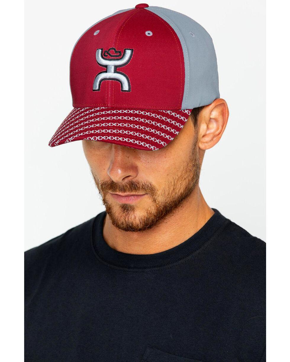 HOOey Men's Solo III Cap, Maroon, hi-res