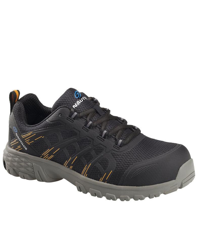 Nautilus Men's Black Stratus Slip-Resisting Work Shoes - Composite Toe, Black, hi-res