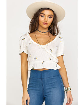 Free People Women's Full Bloom Top, Ivory, hi-res