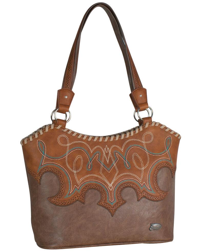 Justin Women's Large Tawny Handbag, Brown, hi-res