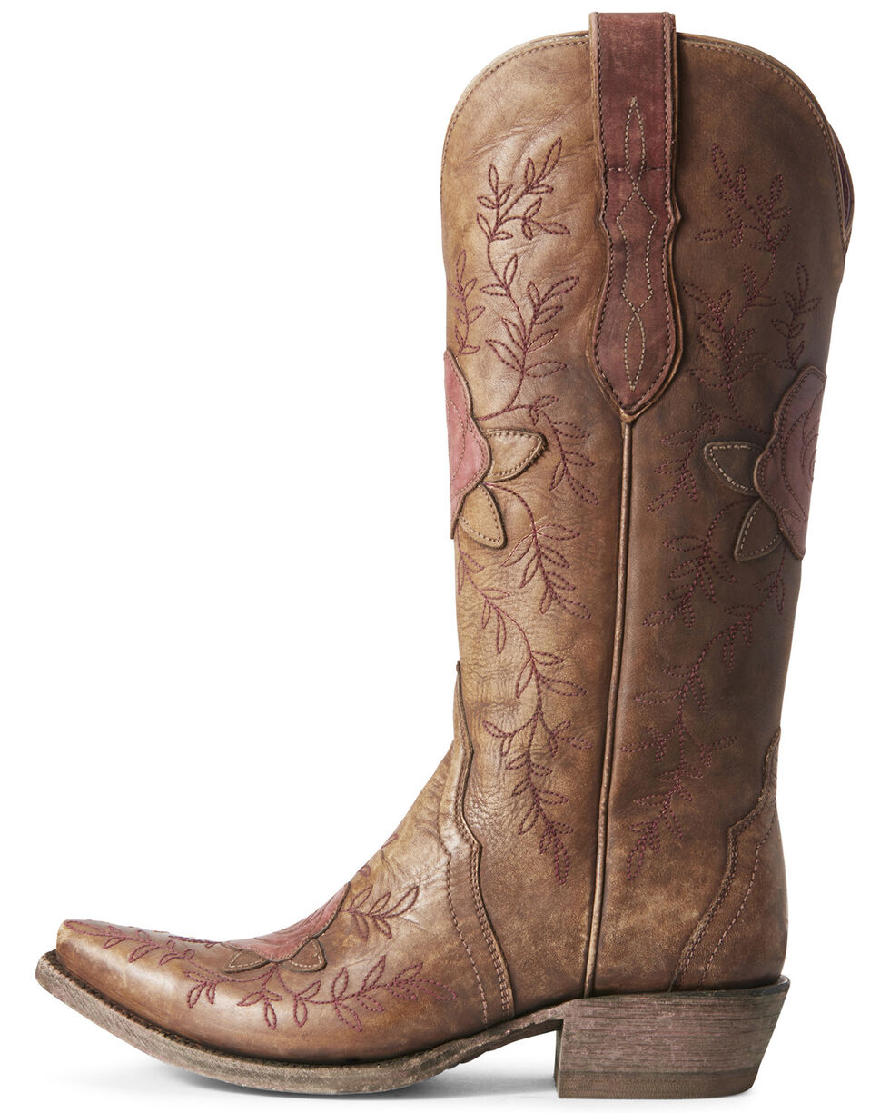 Ariat Women's Rosalind Distressed Western Boots - Snip Toe, Brown, hi-res