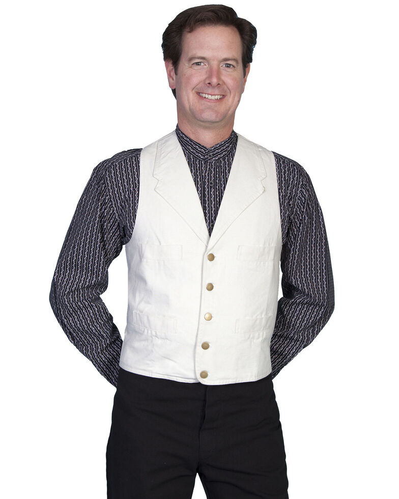 Rangewear by Scully Frontier Canvas Vest, Sand, hi-res