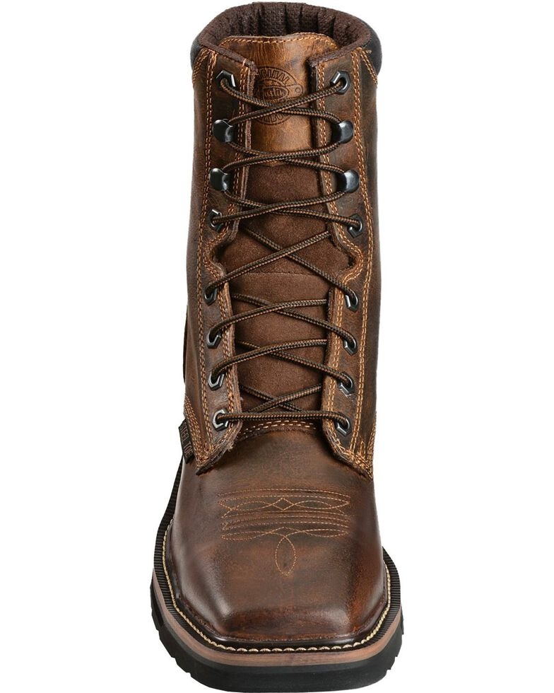 3aebdd3046a Justin Men's Stampede Steel Toe Lace-Up Work Boots