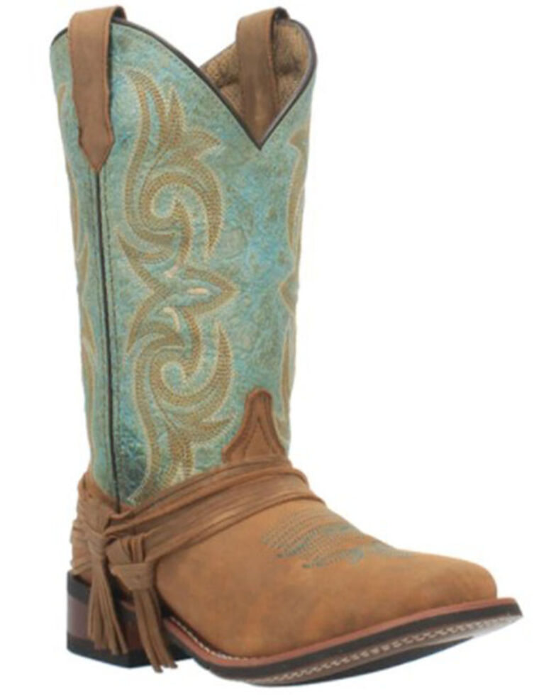 Laredo Women's Sadie Western Boots - Wide Square Toe, Tan, hi-res
