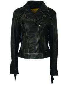 STS Ranchwear Women's Black Chenae Fringe Jacket, Black, hi-res